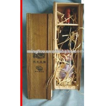 Wholesale Single Bottle Wood Wine Gift Box For 750ml Bottle MH-WB-15018