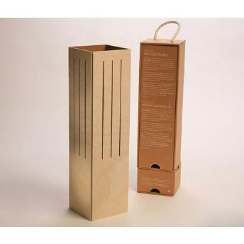 Exquisite Single Bottle Wood Champagne Gift Box MH-WB-15019