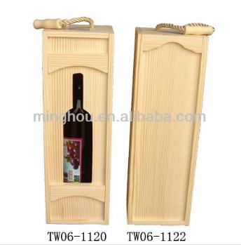 Wholesale Single Bottle Wooden Wine Gift Box MH-WB-15020
