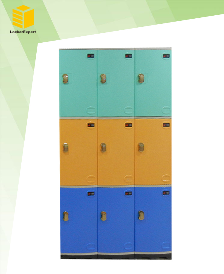 Bedroom furniture safe clothes abs locker - abs plastic locker JS38-3