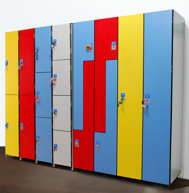 HPL Compact laminate storage lockers for park