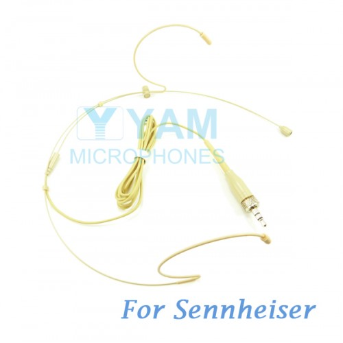 YAM Beige HM1-C4SE Headset Microphone For Sennheiser Wireless Microphone