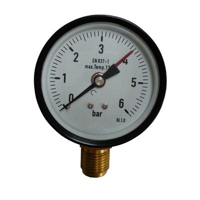 3.5inch-75mm Black Steel Case Brass Connection Bottom Thread Type Pressure Gauge