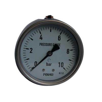 4 Inch-100mm Full Stainless Steel Back Thread Type Pressure Manometer