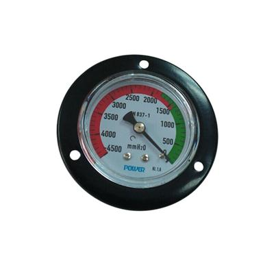 2.5inch-63mm Colored Dial Plate Black Steel Case Back Brass Connection With Front Flange Vacuum Pressure Gauge
