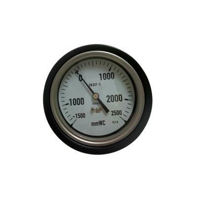 YE-100D 100mm Stainless Steel Case Back Brass Connection Capsule Pressure Gauge With Protective Rubber