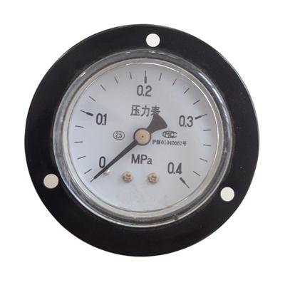 2.5inch-63mm Black Steel Case Brass Connection Back Type Pressure Gauge With Front Flange