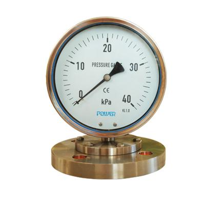 YTP Dial Size 6 Inch 160mm Mechanical Diaphragm Pressure Gauge 40 KPa
