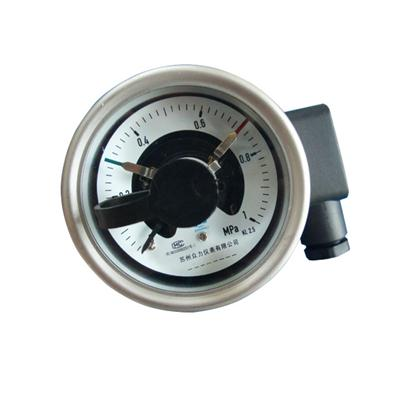 2.5 Inch Electric Contact Pressure Gauge Mpa 1 Back Connection Pt14