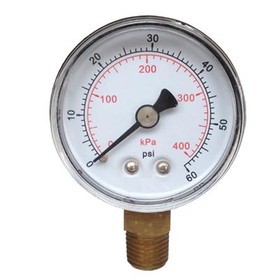 2inch-50mm Plastic Case Brass Connection Bottom Thread Type Pressure Gauge