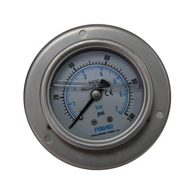 2.5 Inch-63mm Full Stainless Steel Back Thread Type Pressure Manometer With Bracket