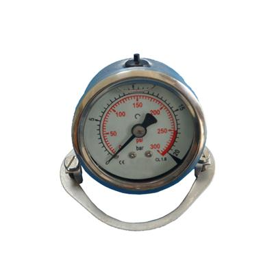 2inch-50mm Half Stainless Steel Back Type Liquid Filled Pressure Gauge With Butterfly Clamp