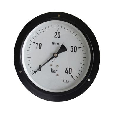 6inch-150mm Black Steel Case Brass Connection Back Type Pressure Gauge With Front Flange