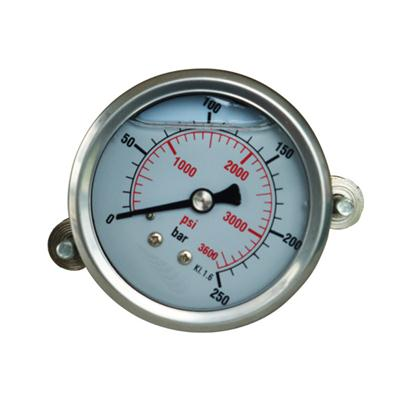 2.5inch-63mm Half Stainless Steel Back Type Liquid Filled Pressure Gauge With Clamp
