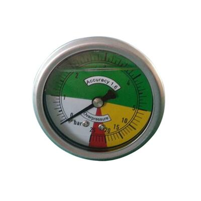 2.5inch-63mm Half Stainless Steel Bottom Type Non-isometric Scale Liquid Filled Pressure Gauge