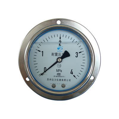 4inch-100mm Commercial Type Chrome Plated Case Back Type Liquid Filled Pressure Gauge