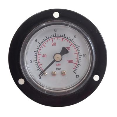 2inch-50mm Black Steel Case Brass Connection Back Type Pressure Gauge With Front Flange