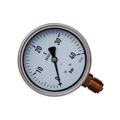 4inch-100mm Half Stainless Steel Bottom Type Liquid Filled Pressure Gauge WIKA Style