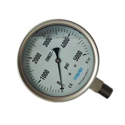 4.5inch-115mm Full Stainless Steel Bottom Thread Type Pressure Manometer
