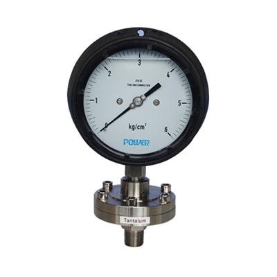 4.5 Inch 115mm Tantalum Diaphragm Pressure Gauge With Phenolic Case IP65