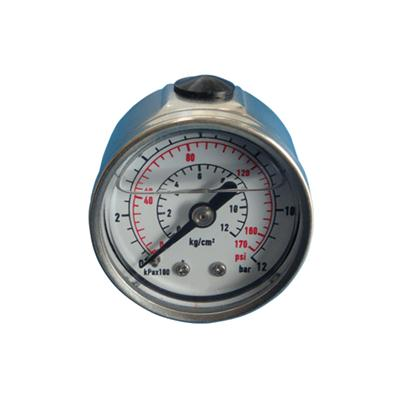 1.5inch-40mm Half Stainless Steel Back Type Liquid Filled Pressure Gauge 2