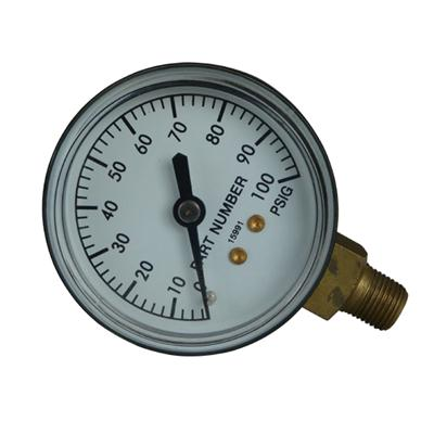 2inch-50mm Black Steel Case Brass Connection Bottom Thread Type Pressure Gauge