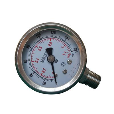 2 Inch-50mm Full Stainless Steel Bottom Thread Type Pressure Manometer
