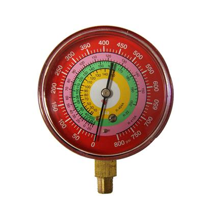 100mm Special Red Steel Case Cheap Type Single Tube Freon Pressure Manometer