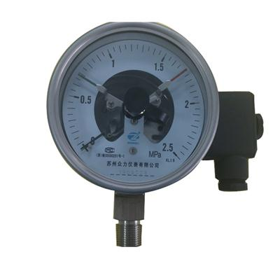 4 Inch 100mm Bottom Wika Type Full Stainless Steel Electric Contact Pressure Gauge Mpa