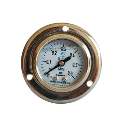 1.5inch-40mm Half Stainless Steel Back Type Liquid Filled Pressure Gauge With Flange 2