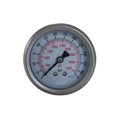 2.5inch-63mm Half Stainless Steel Back Type Liquid Filled Pressure Gauge