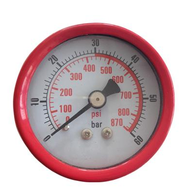 2inch-50mm Black Steel Case Brass Connection Back Thread Type Pressure Manometer2