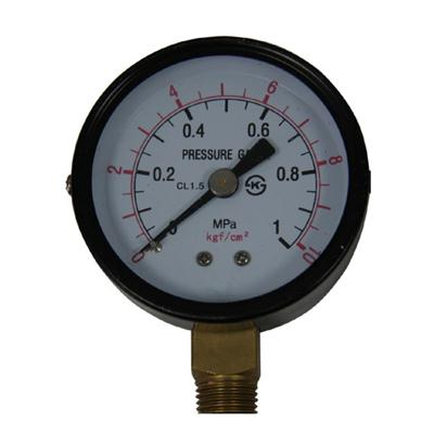 2.5inch-63mm Black Steel Case Brass Connection Bottom Thread Type Pressure Gauge