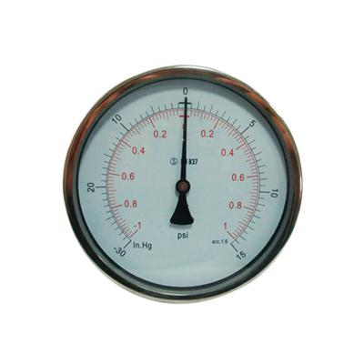 6inch-160mm Half Stainless Steel Back Type Liquid Filled Pressure Gauge