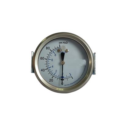 2.5-60mm Stainless Steel Case Back Type Bellows Type Pressure Gauge U-clamp