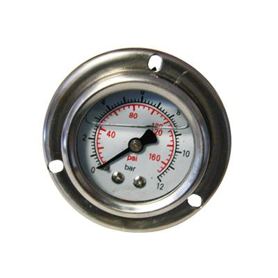 1.5inch-40mm Half Stainless Steel Back Type Liquid Filled Pressure Gauge With Flange