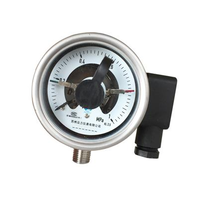 2.5 Inch Electric Contact Pressure Gauge Mpa 1 Bottom Connection Pt14