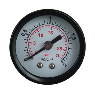 1.5inch-40mm Black Steel Case Brass Connection Back Thread Type Pressure Manometer3