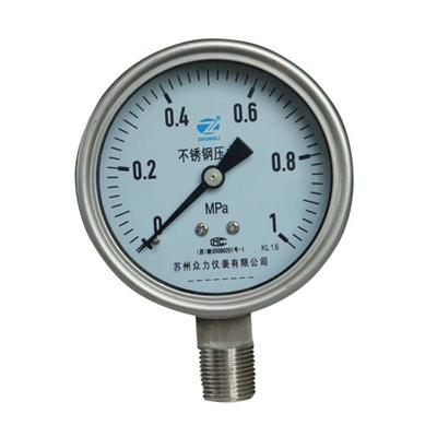 3 Inch-75mm Full Stainless Steel Bottom Thread Type Pressure Manometer