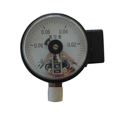 4 Inch 100mm Bottom Black Steel Case Brass Internal Vacuum Electric Contact Pressure Gauge