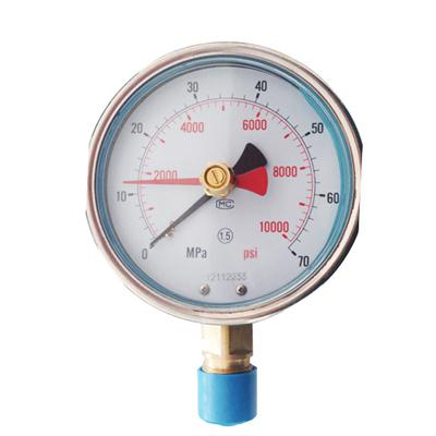 100mm High Pressure Control Black And Red Pointer Momery Manometer