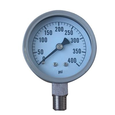 60mm Grey Steel Case Inner Stainless Steel Level Ammonia Use Pressure Gauges