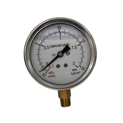 3inch-80mm Half Stainless Steel Bottom Type Liquid Filled Pressure Gauge