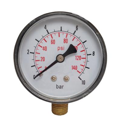 2.5inch-60mm Plastic Case Brass Connection Bottom Thread Type Pressure Gauge