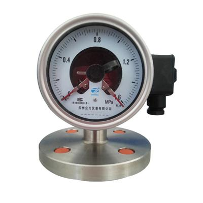 4 Inch 100mm Stainless Steel Diaphragm Seal Pressure Gauge With Electric Contact