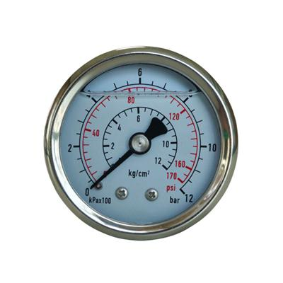 2inch-50mm Half Stainless Steel Back Type Liquid Filled Pressure Gauge3