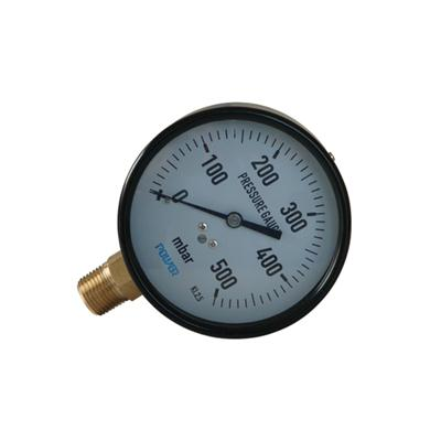 YE-100A 100mm Black Steel Case Direct Type Capsule Pressure Gauge500mbar