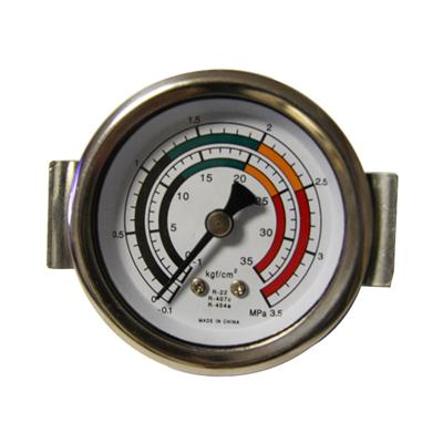 40mm Center Back With Clamp Standard Brass G Thread Type Freon Air Pressure Gauge Piezometer