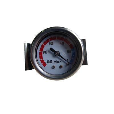 1.5inch-40mm Black Steel Case Back Brass Connection Vacuum Gauge With U-clamp
