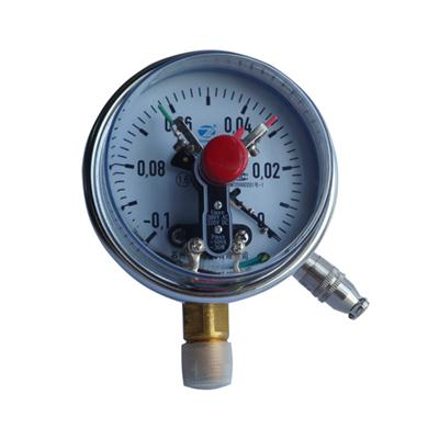 100mm 4 Inch Lower Entry Chrome Plate Case Electric Contact Radial Pressure Gauge Manometer